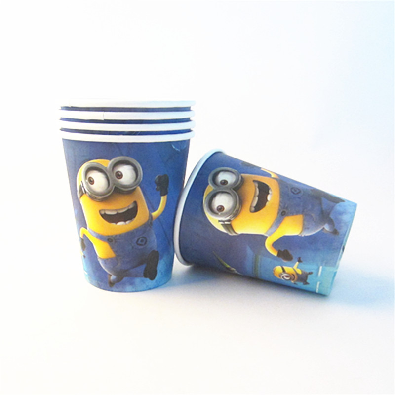 10pcslot Cartoon Minion Theme Paper Cups Disposable Tableware