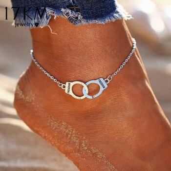 17KM couleur argent mode bricolage bracelets de cheville pour femmes fille bohème amitié Bracelet fait main pieds nus fête bijoux cadeau
