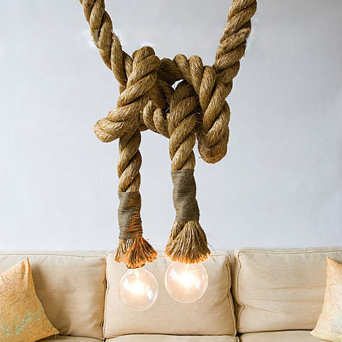 Vintage Rope Lamp E27 Pendant Light Industrial Edison Lamp American Style 2.5m Cord E27 E14 Loft Coffee Bar Hemp Rope Lamp