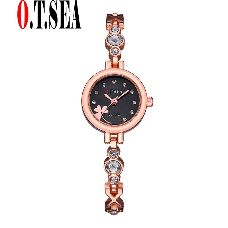 ea409e7adf6 O luxo. t. MAR Marca Trevo em Ouro Rosa Pulseira Relógios Das Mulheres Das