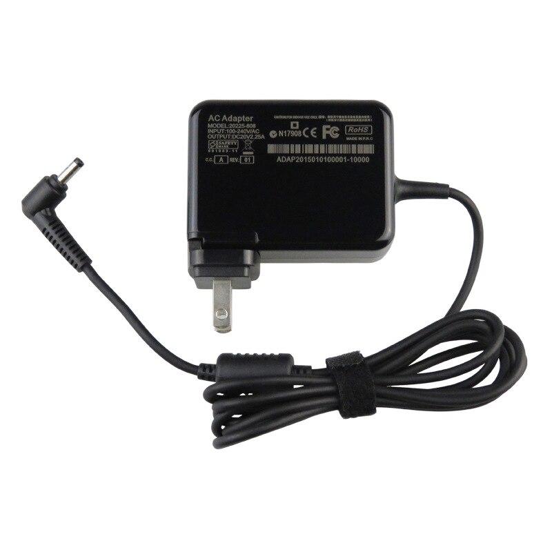 Ноутбук AC DC Зарядное устройство для lenovo 80QN 80YN 80WG 320-17AST 80XW MIIX 510-12IKB 80XE 510-12ISK 80U1 Мощность адаптер 20 В 2.25A 4,0 мм