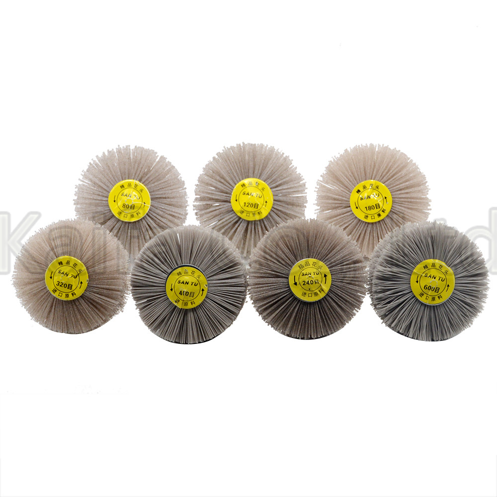 7pcsDuPont nylon grinding head polishing wheel for semifinished wood root carving Rosewood furniture finegrinding WoodworkPolish