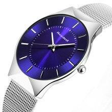 Readeel de Primeras Marcas Para Hombre Relojes de Lujo Hombres Reloj de Cuarzo Ocasional Correa de Malla de Acero Inoxidable Ultra Delgado Reloj Dial relogio masculino