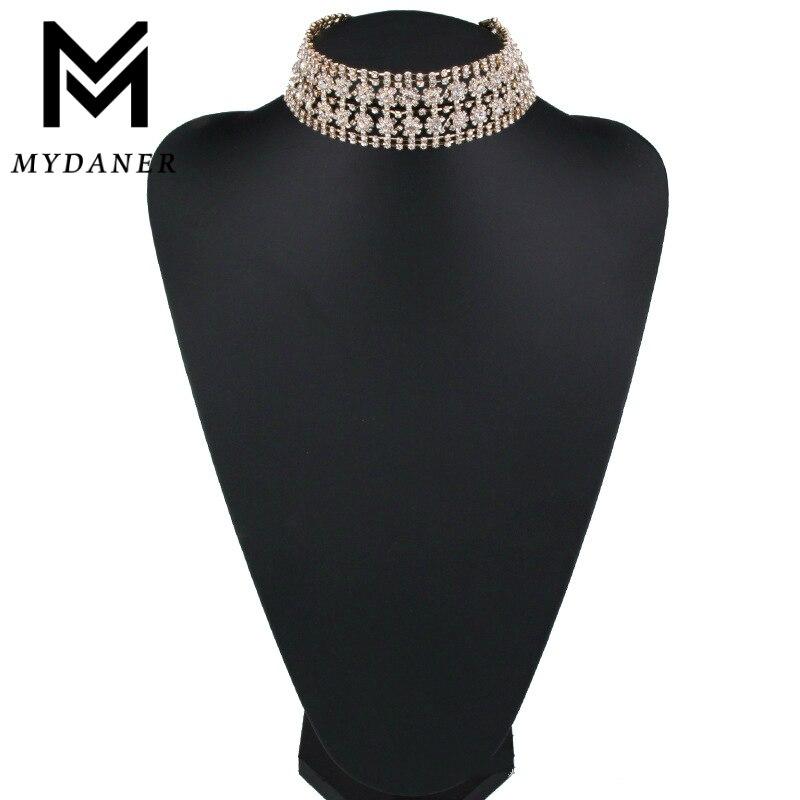 2017 Fashion font b Luxury b font Shiny font b Crystal b font Choker Fashion Rhinestone