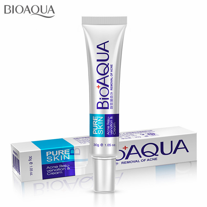 bioaqua skin care acne treatment remove pimples face acne scars cream anti acne removal gel oil. Black Bedroom Furniture Sets. Home Design Ideas