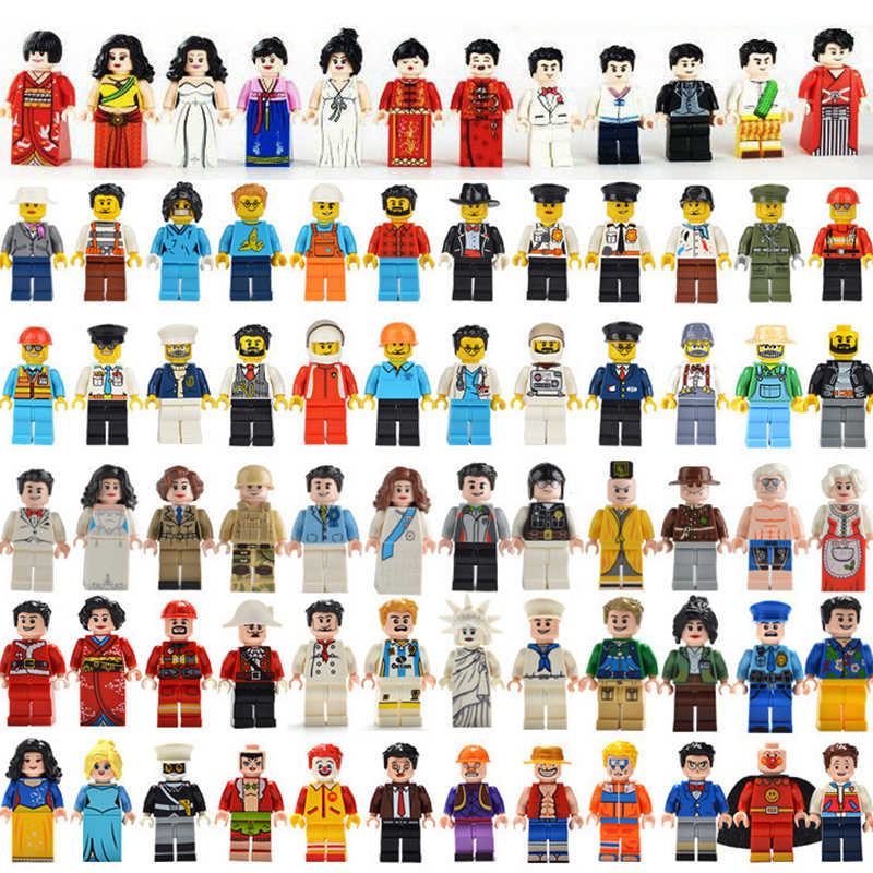 24pcs different Figures Police Occupations Building Blocks DIY Toys Children Gifts NinjagoINGly bricks Toys