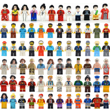 24pcs different Figures Police Occupations Building Blocks DIY Toys Children Gifts NinjagoINGly bricks Toys 20 100pcs lot garden plant flower stem 3 large leaves part building blocks bricks diy gifts x8 toys for children