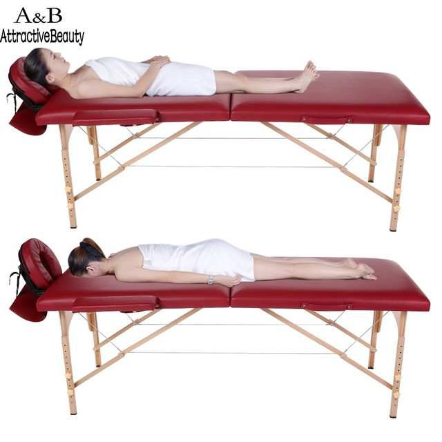 Homdox Professional Portable Spa Massage Tables Foldable with Carry Bag Salon Furniture Wooden Folding Bed Beauty Massage Table