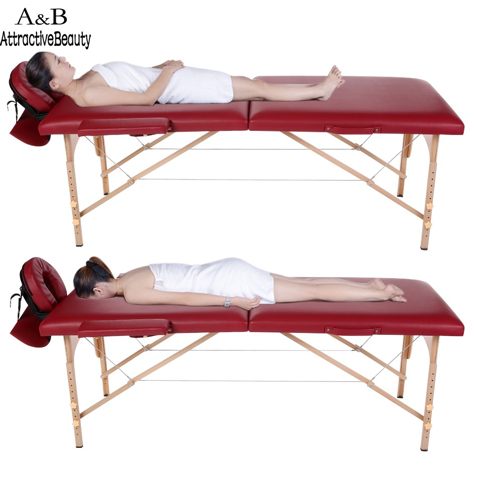 homdox portable spa massage tables foldable with carry bag salon furniture wooden folding bed beauty - Massage Tables For Sale