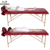 Homdox Professional Portable Spa Massage Tables Foldable With Carry Bag Salon Furniture Wooden Folding Bed Beauty