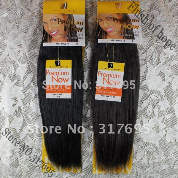 Sensational Premium Now Yaki Straight Real Hair Mixed Animal Hair Extensions Blended Hair
