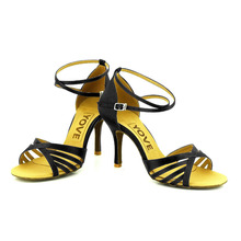 YOVE Dance Shoe Satin Women's Latin/ Salsa Dance Shoes 3.5″ Slim High Heel More Color w121-82