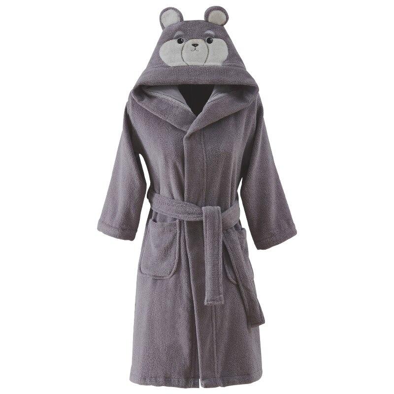 Peignoir enfants à capuche 100% coton pyjamas serviette polaire épais vêtements de nuit Robes pour garçons bébé peignoir printemps automne