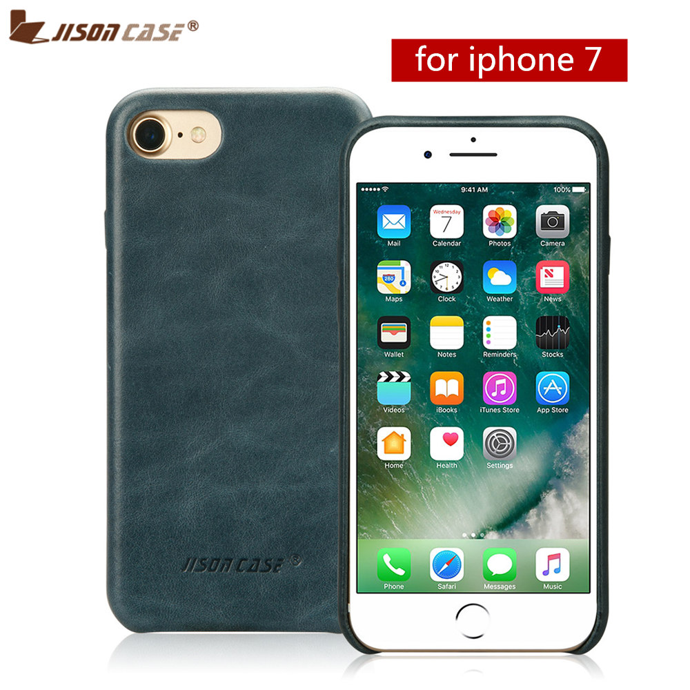 Jisoncase Genuine Leather Phone Case for iPhone 7 Luxury