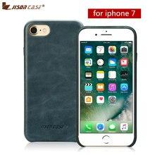 """Jisoncase Lederen Telefoon Case voor iPhone 7 Luxe Slim Beschermende Gevallen Back Cover 4.7 """"Telefoon hoesjes"""