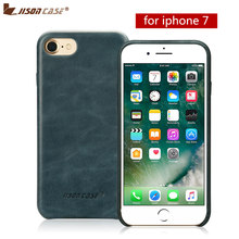 Фотография Jisoncase Slim Cse for iPhone 7 Luxury Genuine Leather Phone Case for iPhone 7 Back Cover for iPhone 7 4.7 inch