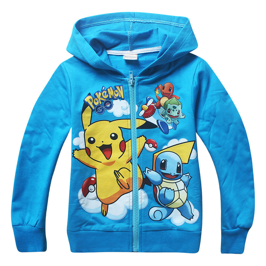 Fashion Autumn Pokemon Go Jacket Kids Long Sleeve Hoodies Girls And Boy Jacket Coat Boys Jacket For Girls Zipper Sweatshirt Hot