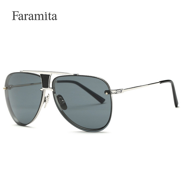 311658834b Faramita Luxury Round Polarized glasses Sunglasses Women Brand Designer  Retro Vintage Aviator Sun Glasses For Women Men Lady