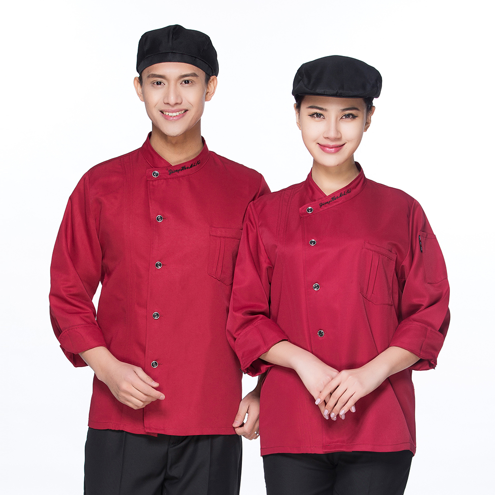High Quality Breathable Long-sleeved Chef Jacket Restaurant Hotel Work Wear Overalls Kitchen Men Women Uniform Home Coat Suits