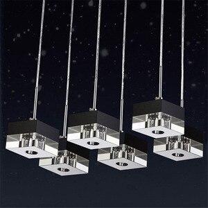 Подвесной светильник G4 адаптер для светодиодной лампы k9 Кристально-Черный Прозрачный квадратный дизайн современный ресторанный светильни...