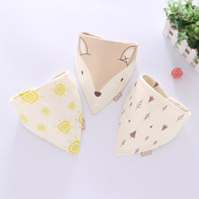 Cotton Bandana Bibs Baby Feeding Smock Infant Burp Cloths Cartoon Saliva Towel Baby Eating Accessory Soft Baby Stuff Unisex(China)