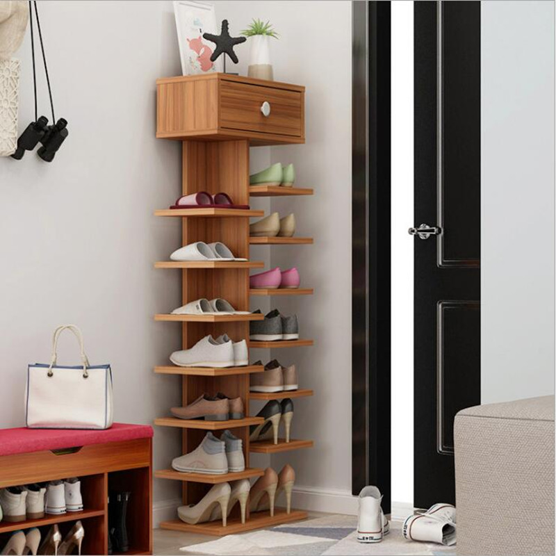 Double Shoe Racks Scarpiera Organizer Wooden Home Furniture Estanteria Para Zapatos For Living Room Cabinet With In Cabinets From