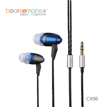 Cheaper Original Boarseman cx98 In Ear Headset Dynamic Musical Earbuds HiFi balanced Bass Earphone For Music & Computer Use