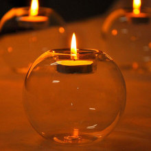 Portable Glass Candle Holder for Home Decor