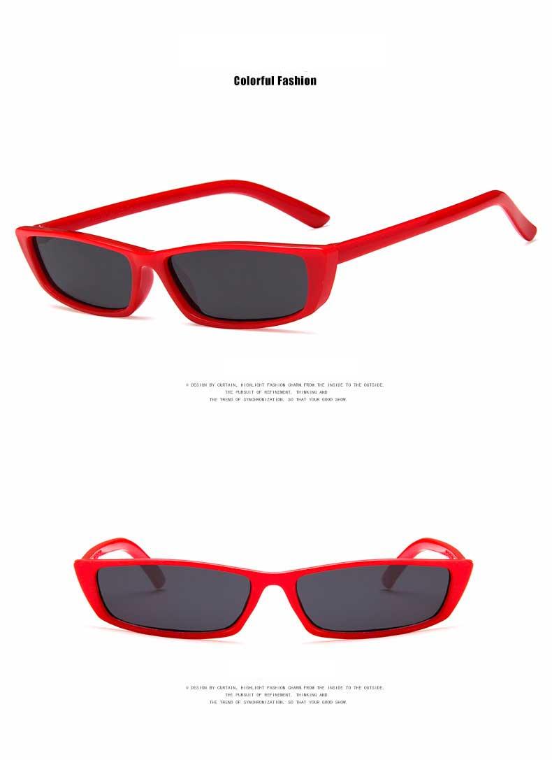 Trendy Sonnenbrille Frauen 2018 Männer Schmale Sonne gläser Schwarze ...