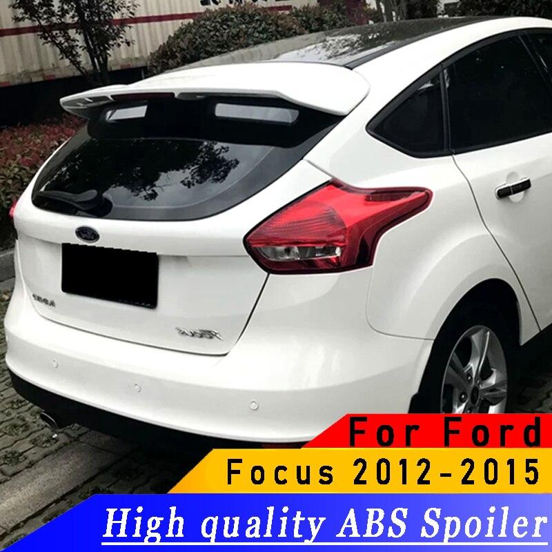 Pour Ford Focus hayon 2012 à 2015 aileron arrière de haute qualité ABS aileron d'aile arrière apprêt bricolage n'importe quelle couleur spoiler pour Focus