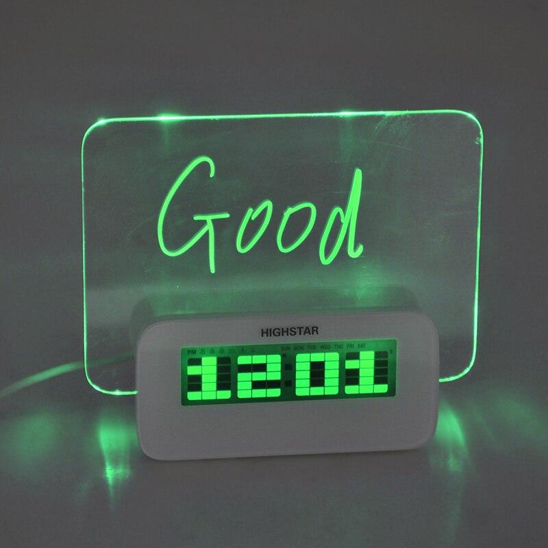 Calendario Elettronico.Led Fluorescente Bacheca Digital Alarm Desklop Orologio