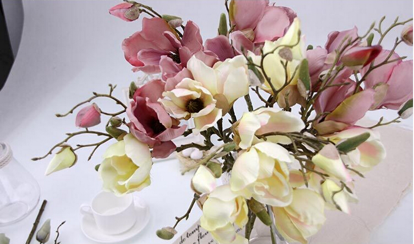 Hot magnolia artificial flowers retro home decor crafts orchid hot magnolia artificial flowers retro home decor crafts orchid artificial flower wedding decoration flores artificial in artificial dried flowers from mightylinksfo Choice Image
