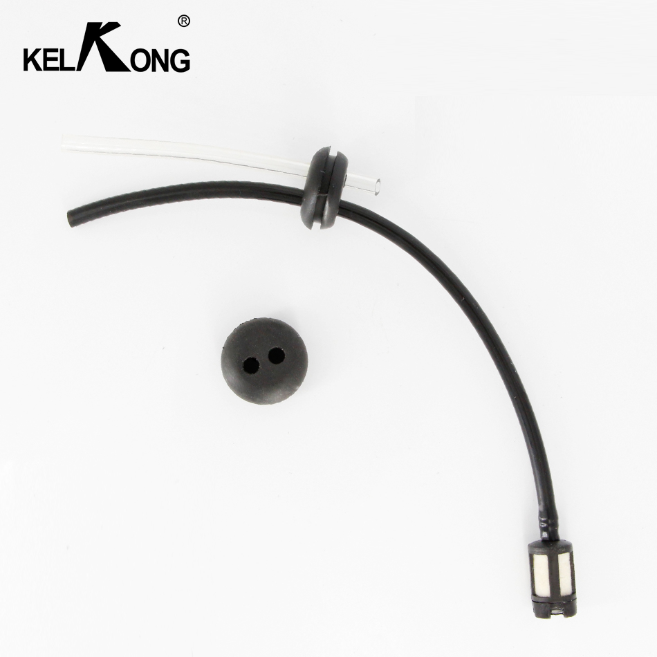 KELKONG 1Pc Fuel Hose Oil Pipe + Tank Fuel Filter With 2 Holes Rubber Washer For Grass Strimmer Trimmer Brush Cutter Tool Parts подвесная люстра odeon light alvada 2910 8