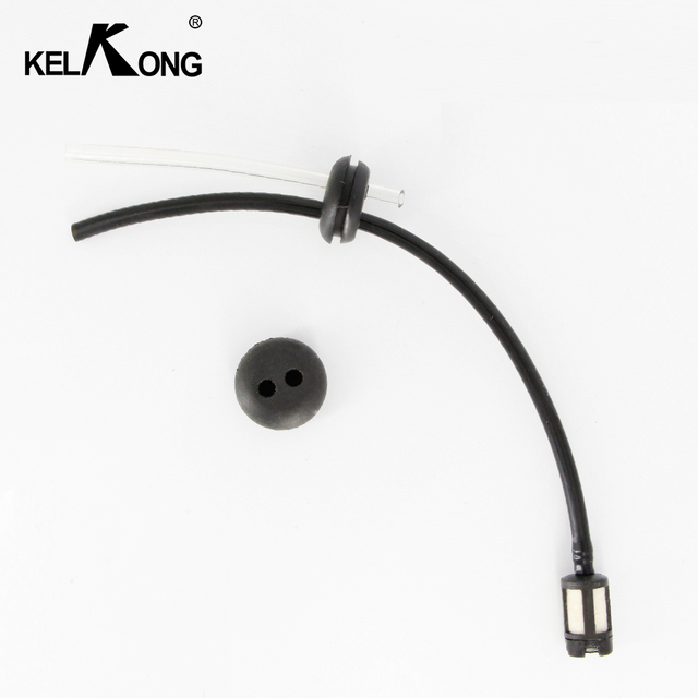 KELKONG 1Pc Fuel Hose Oil Pipe + Tank Fuel Filter With 2 Holes Rubber Washer For Grass Strimmer Trimmer Brush Cutter Tool Parts