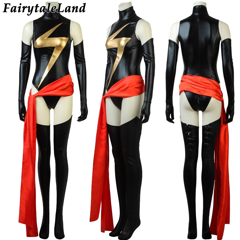 Avengers Captain Marvel Carol Danvers Cosplay Costume Halloween costumes for Women Superhero Ms. Marvel Jumpsuit sexy costume