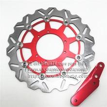 320 Flaoting hamulec talerz tarczowy wirnika + uchwyt do 4 Pot zacisk HF6 CR125 CR250 CRF250 CRF450 Supermoto