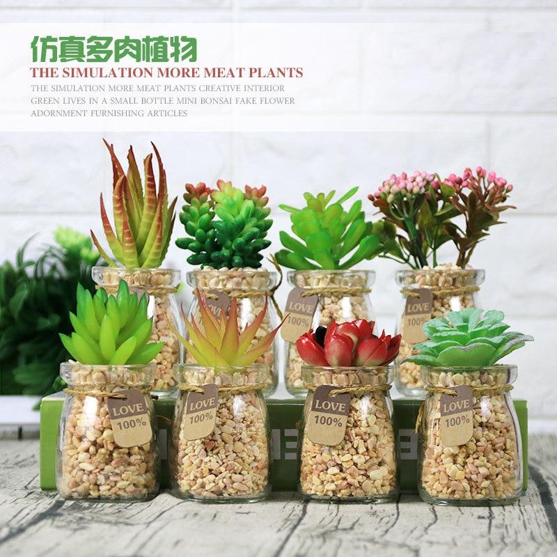 Bonsai Office Decoration Fake Flowers Floral Craft Artificial Plants Succulents