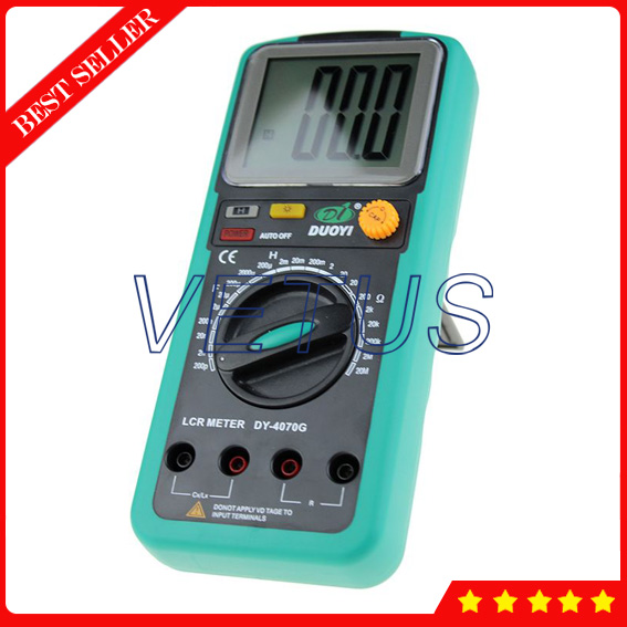 DY4070G Handheld LCR Meter for digital multimeter Capacitance Inductance Resistance tester lcr handheld 10khz digital bridge portable resistance inductance capacitance meter lq 9101 parallel pocket meter