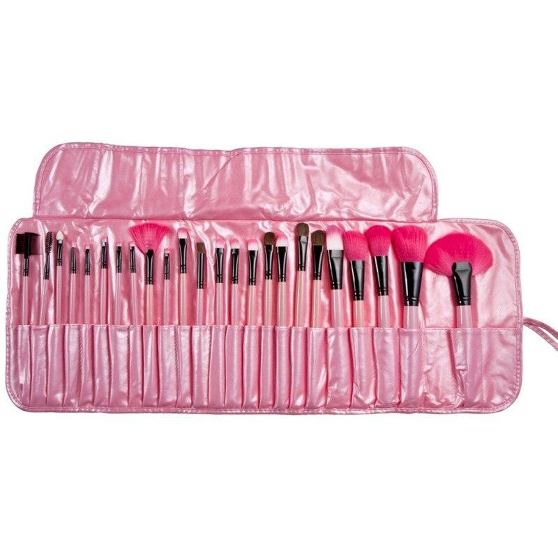 (24 Pcs/Set) Makeup Brush Foundation Eye Shadows Lipsticks Powder Make Up Brushes Tools + PU Bag pincel maquiagem WD09
