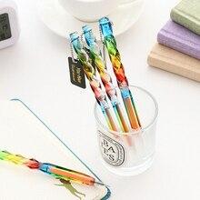 Милый мороженое гелевая ручка 1 шт. прозрачный Симпатичные Звезды гелевые ручки студент канцелярских красочные Пластик 0,5 мм ручки