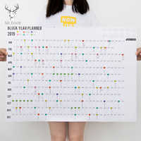 Grande creativo 2019 365 días calendario de pared de papel Oficina escuela notas de planificación diario año planificador estudio Calendario de Año Nuevo