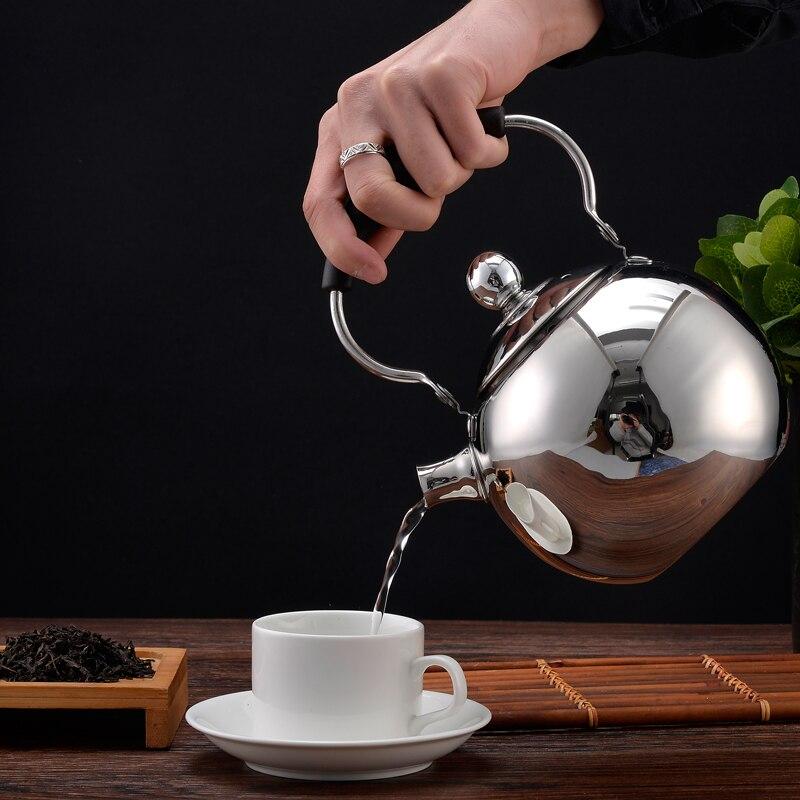 Stainless steel teapot restaurant tea maker teapot kettle large capacity 2LStainless steel teapot restaurant tea maker teapot kettle large capacity 2L