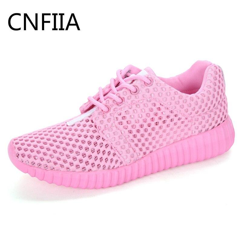 CNFIIA Для женщин кроссовки дешевые Женские туфли-лодочки спортивная обувь прогулочная повседневная обувь на шнуровке 2018 Лето Большой размер:... ...