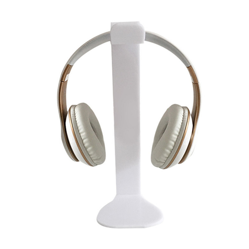 VOBERRY Transparent Universal Acrylic Headphone Stand Head Holder Display Hanger For Son ...