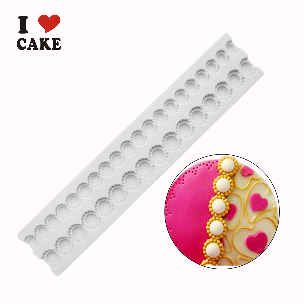 Tiffany pearl beads silicone cake mold forma de silicone ...