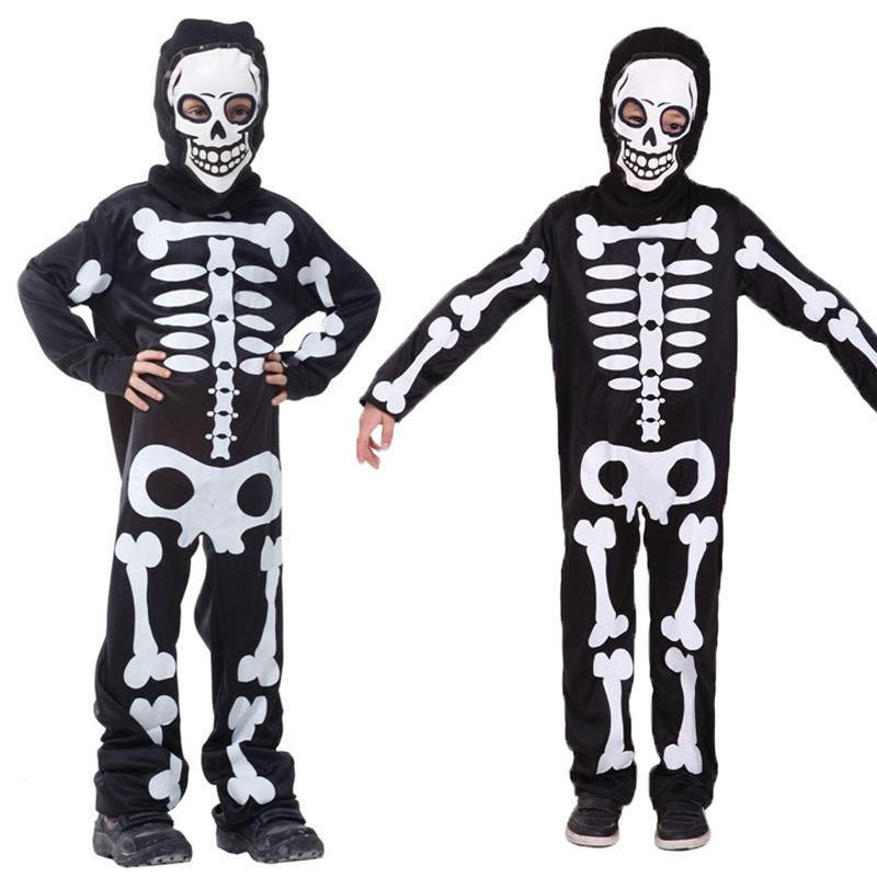 Kids Halloween Carnival Party Costume Boys Girls Terror Skeleton Costumes with Cap costume party fancy dress