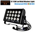 TIPTOP TP-W1515 225 Вт Высокая мощность RGB 15x15 Вт 3в1 Светодиодная лампа для мытья стен шайба прожектор наружное ландшафтное освещение Прямоугольная ...