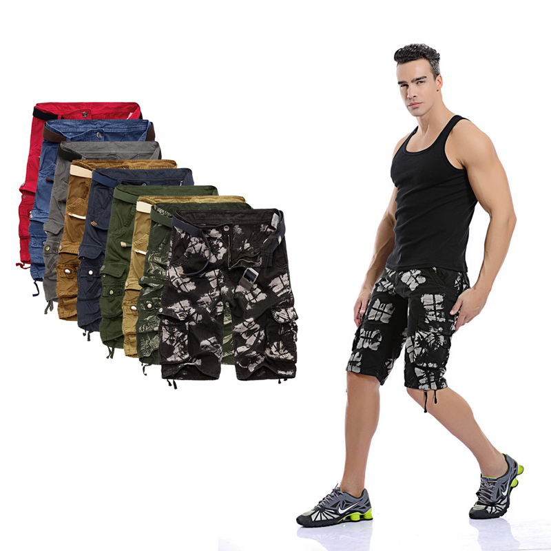 86 Camo Military Shorts Bermuda Summer Camouflage Cargo Shorts Men Cotton Loose Tactical Short Pants No Belt
