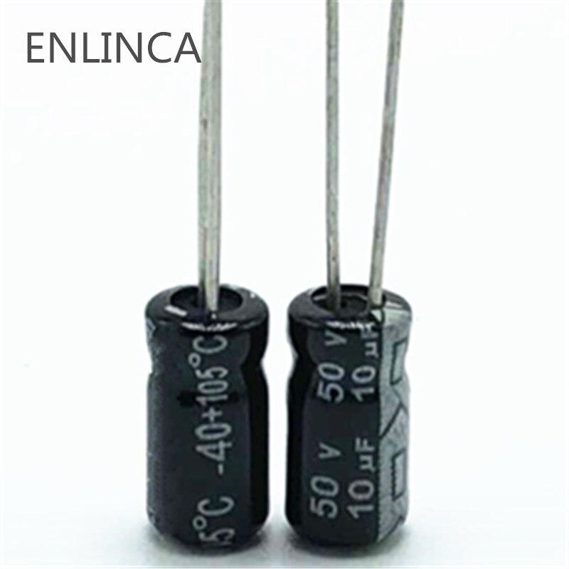 20pcs/lot R445 50V 10UF Aluminum Electrolytic Capacitor Size 4*7mm 10UF 20%