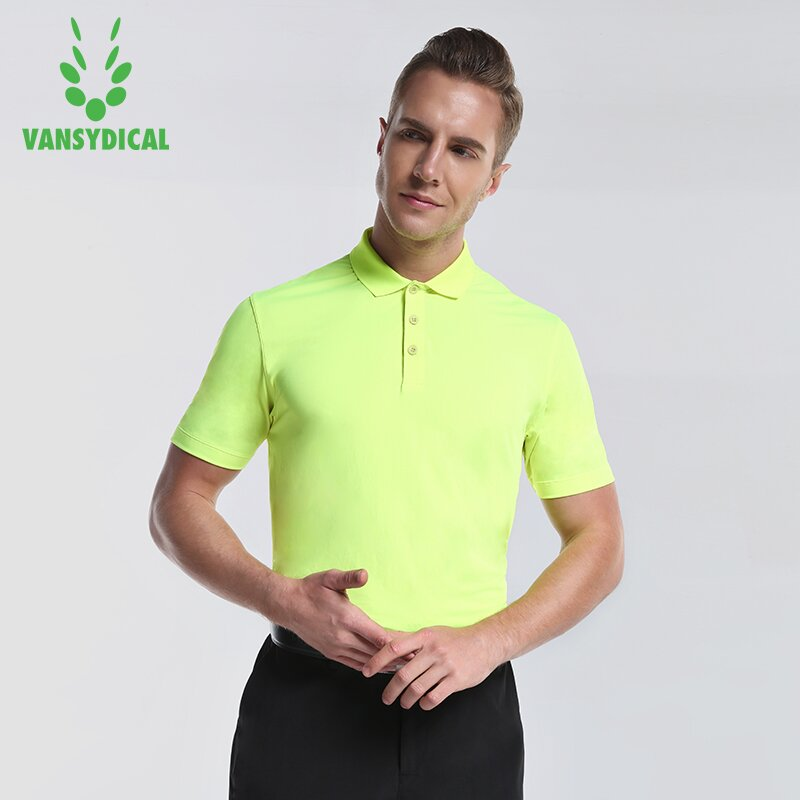 SPT Vansydical Sports Polo Shirts mens Short Sleeve Golf Shirts Quick Dry Outdoor Male Polo Shirt Short Sleeve Sportwear Tops